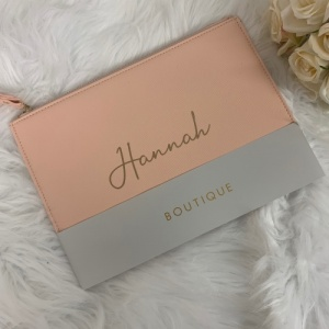 Personalised Boutique PU Leather Clutch Bag