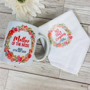 Personalised 'No Ugly Crying' Mug & Hankie Set