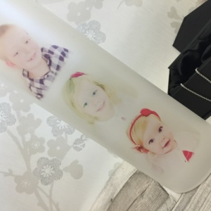Mother and Daughter Personalised Frosted Image Vase
