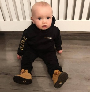 Personalised Black / Gold Tracksuit with Name & Est Date