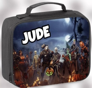 Black Fortnite Characters Personalised Lunch Bag