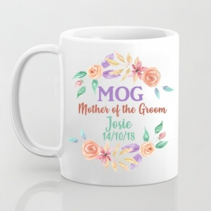 MOG - Mother of the bride Personalised Pastel Mug