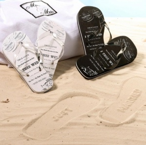 Newlywed 'Just Married' His / Hers Flip Flops