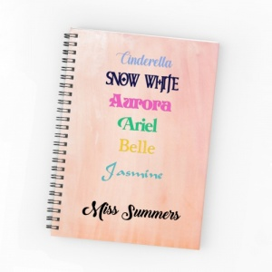 Personalised Princess Note Pad