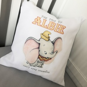 Vintage Dumbo ' Don't Stop Dreaming '  Personalised Cushion