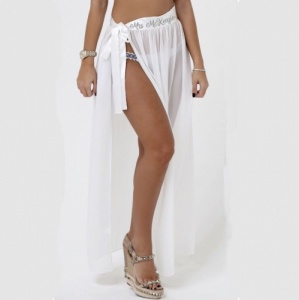 Personalised Beach Cover Sheer Wrap Skirt