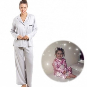 Satin Button Up Adult & Child Pyjamas