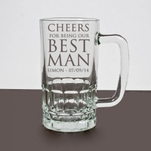 Cheers Best Man Personalised, Printed Pint Tankard