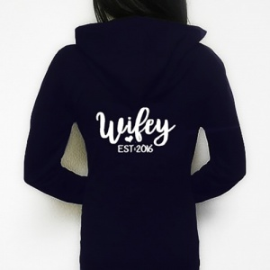 Wifey Personalised Zip Up Hoodie