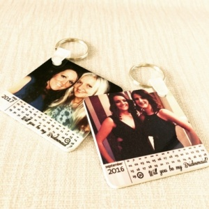 Will you be my Bridesmaid Personalised Calendar Keyring
