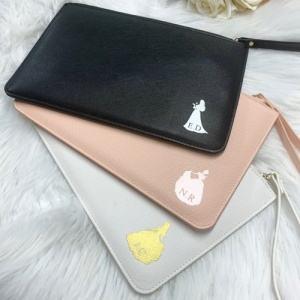 Princess Fairy Tale  Inspired PU Leather Personalised Clutch Bag
