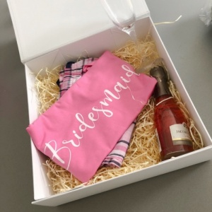 Personalised PJ, Flute & Alcohol Gift Set