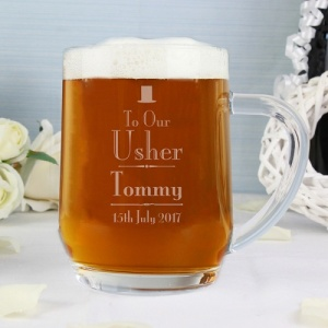 Personalised Role Decorative Wedding Tankard