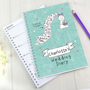 Personalised Purple Ronnie Bride Wedding Diary