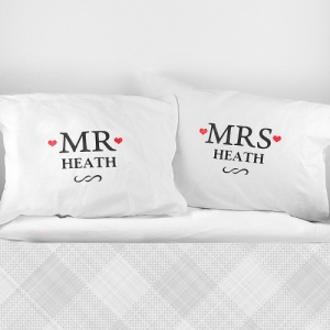 Personalised Mr & Mrs Pillowcases