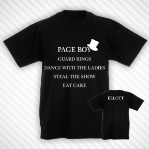 Boys Page Boy Duties T-Shirt