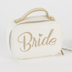 Gold Glitter Bride Small Jewellery Organiser