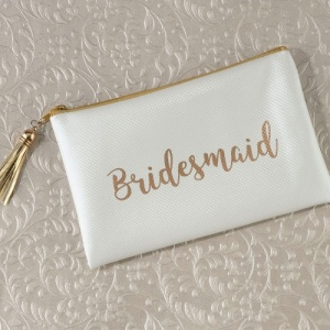 Bridesmaid / Maid of Honor Survival Kit & Cream / Gold Bag