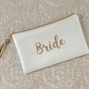 Bride Survival Kit & Cream / Gold Bag
