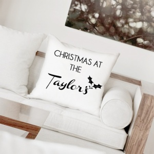 Christmas at... Personalised Cushion