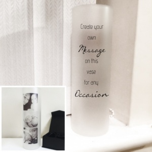 Any Message Personalised Frosted Image Vase