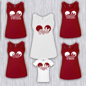 Minnie Ears Bridal Party Vest