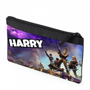 Black Fortnite Personalised Pencil Case