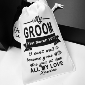 Personalised Message Groom Gift Bag