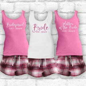 Harper Short Check Bridal Party Check PJ Pyjama Set