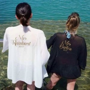 Personalised Swim Cover Up Short Kaftan