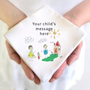 Your child's drawing hankie