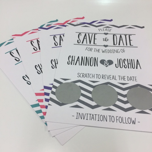 Save The Date Scratch Cards Reveal Your Date To Guests Real Unique