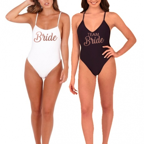 b0193fd5d9 Personalised Bridal Party Swim Costume Real Unique
