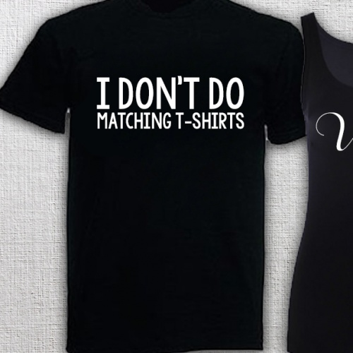 Black I Don't Shirt Do Matching Mens T 67gyYbfv