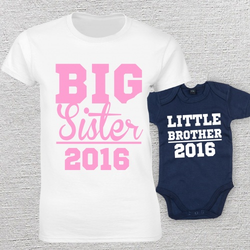 7b8cfb37e Big Sister Little Brother Matching T-Shirt and Vest Real Unique