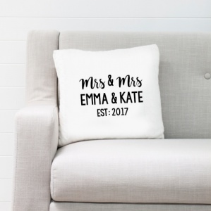 Mrs & Mrs Personalised Cushion