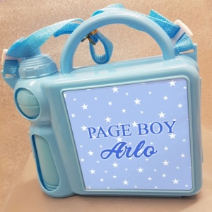 Personalised Page Boy Lunch Box & Flask
