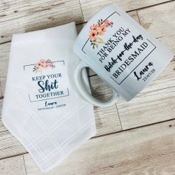 Personalised 'Keep your sh*t together' Mug & Hankie Set