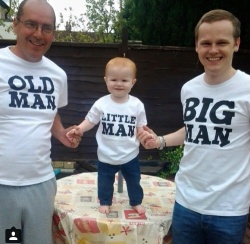 Big Man, Little Man, Old man T-Shirt Adult  or Child T-Shirt