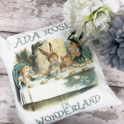 Classic Alice in Wonderland Personalised Cushion