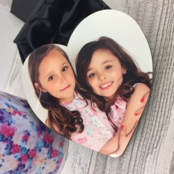 Personalised Heart Photo Coaster