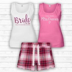' Esme ' Personalised PJ Pyjama Set with 2 Vests