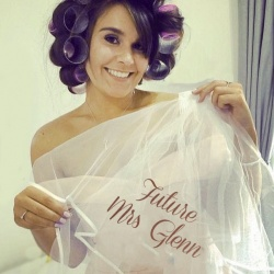 Personalised Elbow Length Hen Party Veil