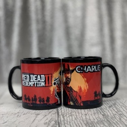 Personalised Red Dead Redemption 2 Personalised Black Mug