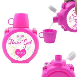 Personalised Flower Girl Water Bottle