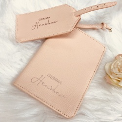 Personalised Passport & Luggage Tag Travel Set