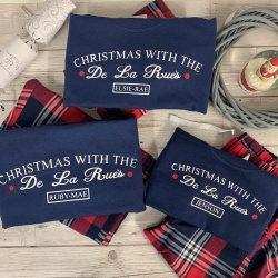 Red Star Personalised Family Tartan Pyjama Set