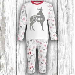 Personalised Deer Christmas Pyjama's