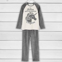 Unisex Grey White Xmas PJ's - Choose your design