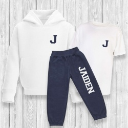 Children's Full Personalised Varsity Tracksuit 6M - 10Y